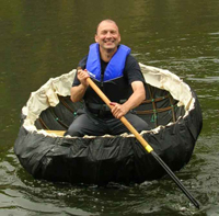 traditional coracle made of willow